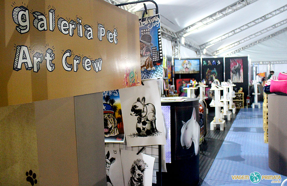 Galeria Pert Art Crew no espaço Pet&Play do Shopping VillaLobos